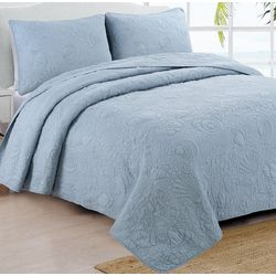 Estate Collection Seaside Dusty Blue Quilt Set