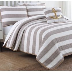 Coastal Design Hampton Linen Quilt Set