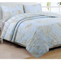 Coastal Design Naples Reversible Quilt Set