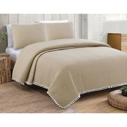 Estate Collection Costa Brava Reversible Quilt Set