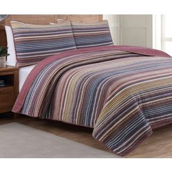 Estate Collection Taj Berry Reversible Quilt Set