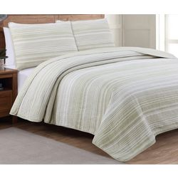 Estate Collection Taj Pale Khaki Reversible Quilt Set