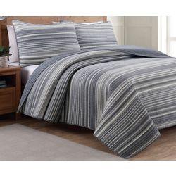 Estate Home Taj Grey Reversible Quilt Set
