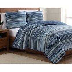 Estate Home Taj Blue Reversible Quilt Set