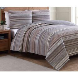 Estate Home Taj Neutral Reversible Quilt Set