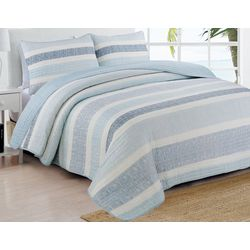 Estate Home Delray Blue Quilt Set