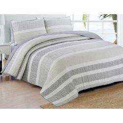 Estate Home Delray Grey Quilt Set