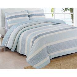 Estate Home Delray Blue Quilt Set