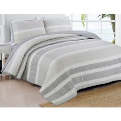 Estate Home Delray Grey Quilt Set