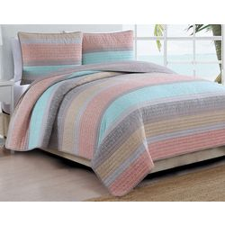 Estate Home Delray Stripe Quilt Set