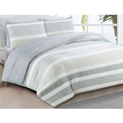 Estate Collection Delray Grey Reversible Comforter Set