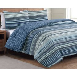 Estate Collection Taj Blue Reversible Comforter Set