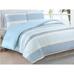 Estate Collection Delray Blue Reversible Comforter Set