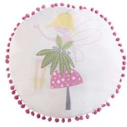 Laura Hart Kids Garden Fairies Decorative Pillow