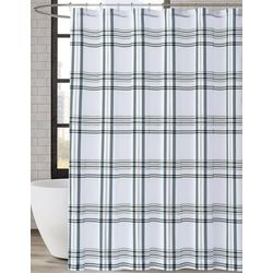 London Fog Kent Plaid Shower Curtain