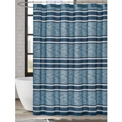 London Fog Mitchel Stripe Shower Curtain