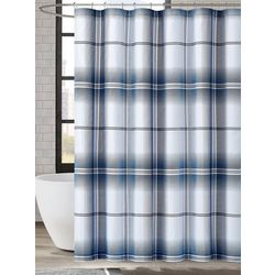 London Fog Nolan Houndstooth Shower Curtain