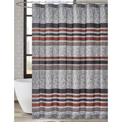 London Fog Warren Stripe Shower Curtain