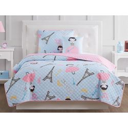 My World Kids Paris Princess Quilt Set