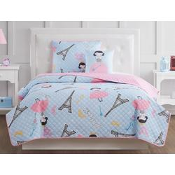 Kids Paris Princess Quilt Set