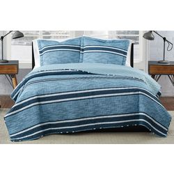 London Fog Mitchell Stripe Quilt Set
