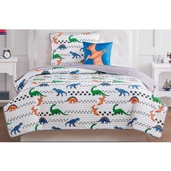 My World Kids Dino Tracks Quilt Set