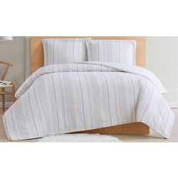 Cottage Classics Warm Hearth Stripe Comforter Set