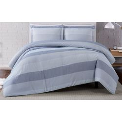 Truly Soft Grey Multi Stripe Comforter Set