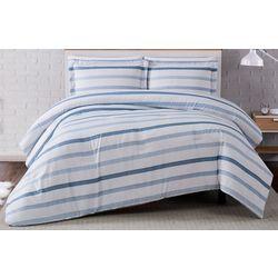 Truly Soft Waffle Stripe Comforter Set
