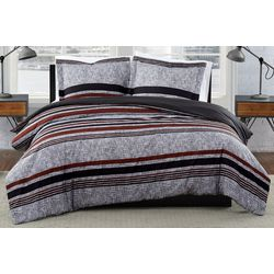London Fog Warren Stripe Comforter Set