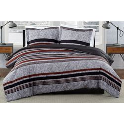 London Fog Warren Stripe Duvet Cover Set