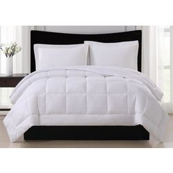 London Fog Embossed Stripe Down Alternative Comforter
