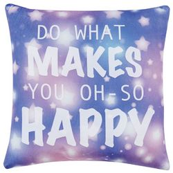 Material Girl Wanderlust Happy Decorative Pillow
