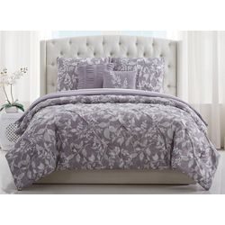 Style 212 Alexa Floral Pleated Comforter Set
