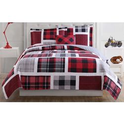 My World Kids Buffalo Plaid Quilt Set