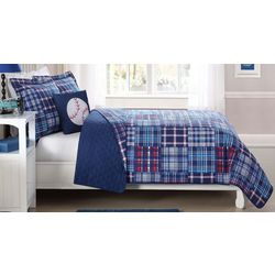 My World Kids Patch Plaid Quilt Set