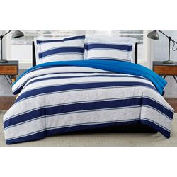 London Fog Watkins Stripe Duvet Cover Set
