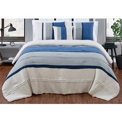 London Fog Newport Stripe Comforter Set