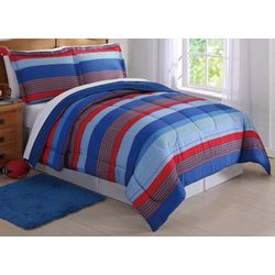 My World Kids Sebastian Stripe Comforter Set