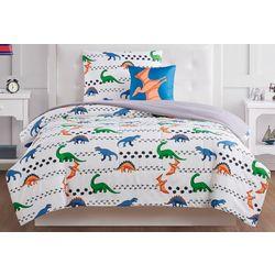 Kids Dino Tracks Comforter Set