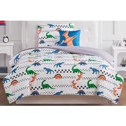 Kids Dino Tracks Comforter Set