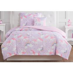 Kids Rainbow Unicorn Comforter Set
