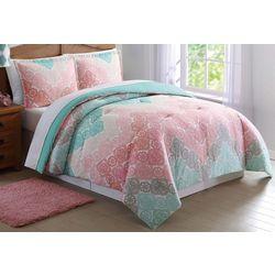 Laura Hart Kids Antique Lace Chevron Comforter Set