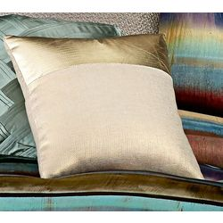 Vince Camuto Lille Metallic Woven Square Pillow