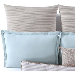 Oceanfront Resort Chambray Coast Neutral Euro Pillow Sham