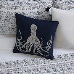 Oceanfront Resort Reef Octopus Decorative Pillow
