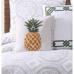 Oceanfront Resort Sunwashed Isle Pineapple Decorative Pillow