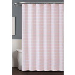 Truly Soft Maddow Stripe Blush Shower Curtain