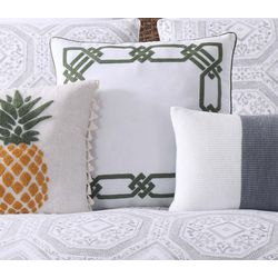 Oceanfront Resort Sunwashed Isle Square Decorative Pillow