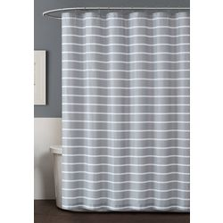 Truly Soft Maddow Stripe Blush Shower Curtain